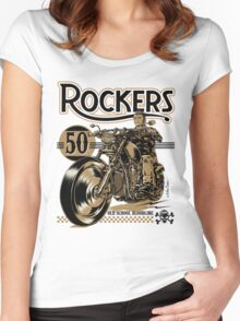 Rockers 50s Women's Fitted Scoop T-Shirt