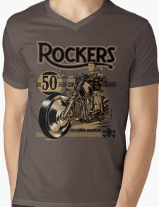 Rockers 50s Mens V-Neck T-Shirt
