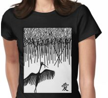 Dancing Stork with Love Womens Fitted T-Shirt