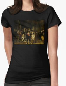 'Nachtwacht', Rembrandt, 'The Night Watch' Womens Fitted T-Shirt