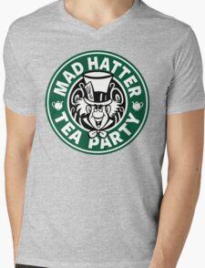 Mad Hatter Tea Party Mens V-Neck T-Shirt