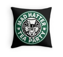 Mad Hatter Tea Party Throw Pillow