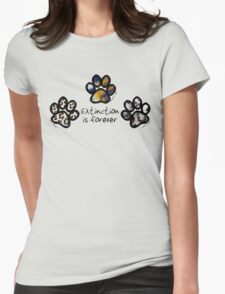 Big cat paws Womens Fitted T-Shirt