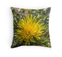 yellow dandelion Throw Pillow