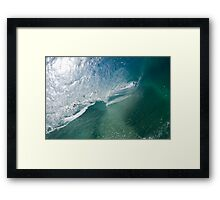 Hollow wave Framed Print