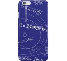 Mathematical Geometry Signs On Blue Background iPhone Case/Skin