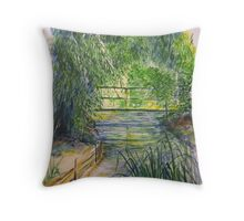 A Day at Giverny Throw Pillow