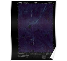 Maine USGS Historical Map Rump Mountain 20110825 TM Inversion Poster