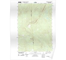 Maine USGS Historical Map Rump Mountain 20110825 TM Poster
