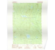 Maine USGS Historical Map Russell Mountain 102934 1989 24000 Poster
