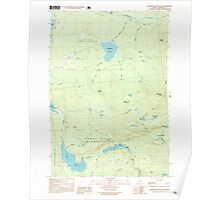 Maine USGS Historical Map Saddleback Mountain 102935 1997 24000 Poster