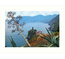 Land ans seascape, Cinque Terre Art Print