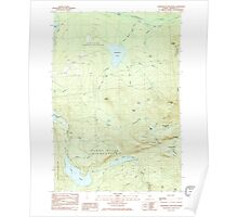 Maine USGS Historical Map Saddleback Mountain 461068 1985 24000 Poster