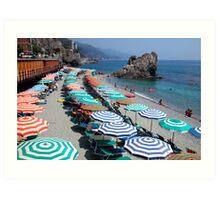 Monterosso beach, Cinque Terre Art Print