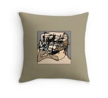 Untitled (Celtic Face) Throw Pillow