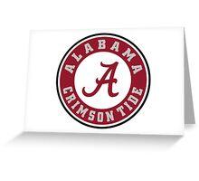 Alabama Crimson Tide Greeting Card