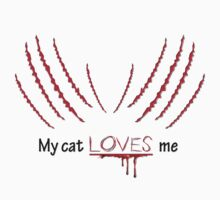 My cat LOVES me by guitarchick666