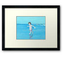 Little Beach Girl Framed Print