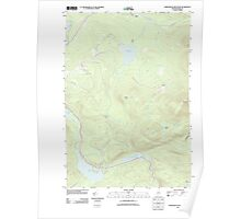 Maine USGS Historical Map Saddleback Mountain 20110829 TM Poster