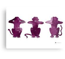 Three monkeys abstract silhouette Metal Print