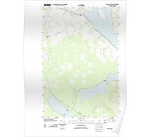 Maine USGS Historical Map Saint Agatha 20110831 TM Poster