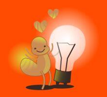 A cute little idea! Glow worm with light bulb Kids Tee