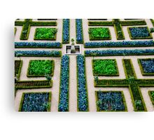 Formal Garden - Chateau Villandry, Loire Valley Canvas Print