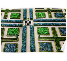 Formal Garden - Chateau Villandry, Loire Valley Poster