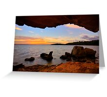 Dusk from a Cave Greeting Card