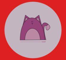 Rawr: Purple Cat Kids Clothes