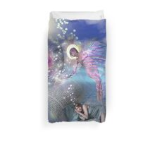 A novel can be a portal into parallel realities Duvet Cover