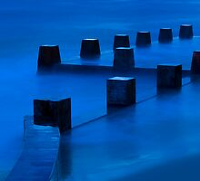 Coogee Baths At Dawn by David Heckenberg