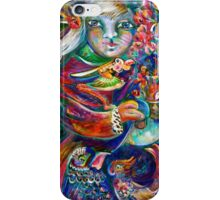 Orphan Child with Flowers iPhone Case/Skin