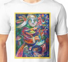 Orphan Child with Flowers Unisex T-Shirt