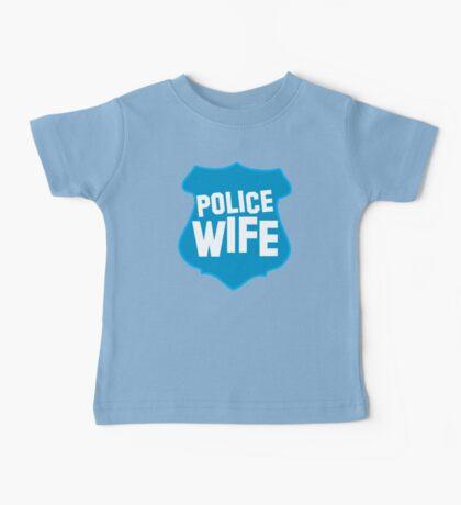 Police WIFE on a policeman shield badge  Baby Tee