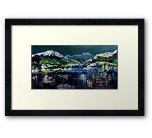 Canadian Rockies Acrylic painting Framed Print