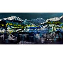 Canadian Rockies Acrylic painting Photographic Print