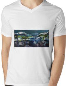 Canadian Rockies Acrylic painting Mens V-Neck T-Shirt