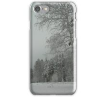 Trees winter iPhone Case/Skin