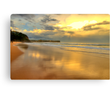 Golden Reflections - Warriewood & Mona Vale Beaches - The HDR Series Canvas Print