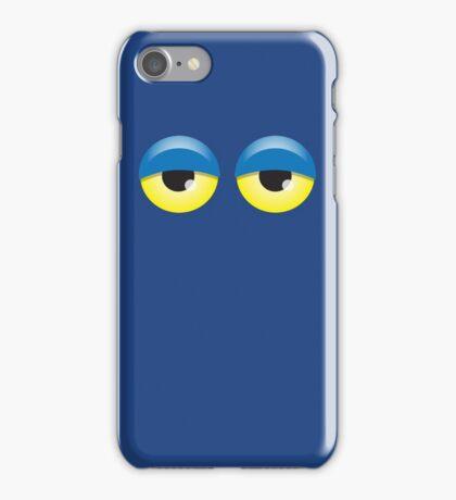 Dopey looking Blue lidded eyes iPhone Case/Skin