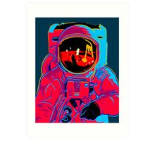psychedelic astronaught  Art Print