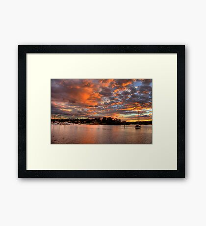 Pink Sky At Night - Newport - The HDR Series Framed Print