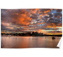 Pink Sky At Night - Newport - The HDR Series Poster