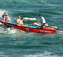Dixon Park Surf Boat Crew - Swansea Channel NSW by Bev Woodman