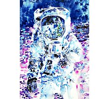 MAN on the MOON - watercolor portrait Photographic Print