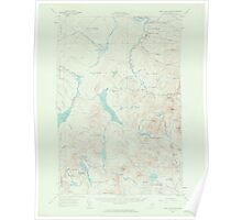Maine USGS Historical Map Saint John Pond 306749 1958 62500 Poster