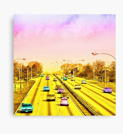 All american freeway Canvas Print