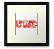 Supreme kitty tee Framed Print