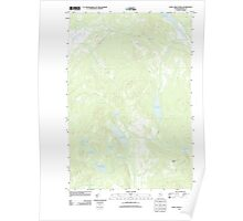 Maine USGS Historical Map Saint John Ponds 20110906 TM Poster